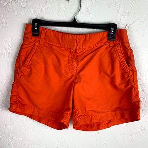 J. CREW ORANGE WOMENS SIZE 2 CHINO SHORTS